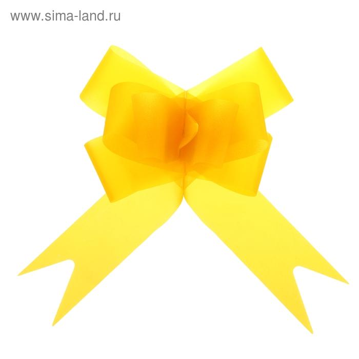 """Бант-бабочка №4,5 """"Классика"""", цвет жёлтый"""