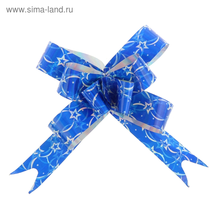 "Бант-бабочка №1,8 ""Звёздочки"", цвет синий"