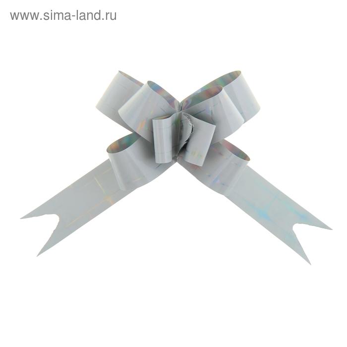 """Бант-бабочка № 1,2 """"Сияние"""", цвет серебряный"""