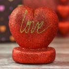 "Сердце на подставке с блестками ""Love"""