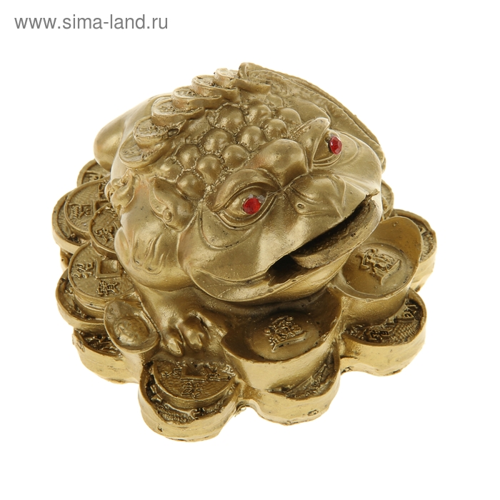"""Нэцкэ под бронзу """"Жаба на монетах и слитках"""" (монета крутится)"""
