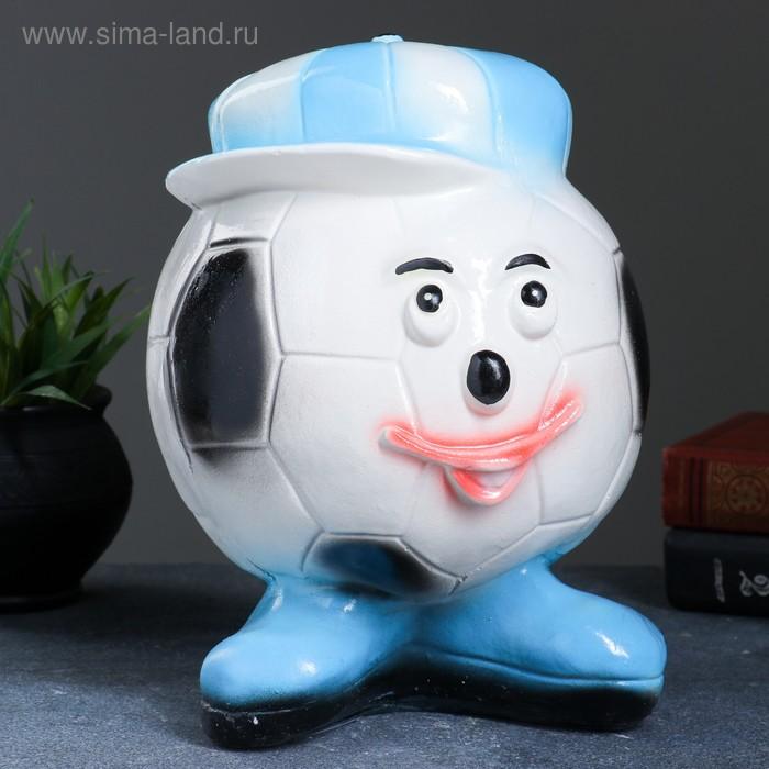"""Копилка """"Футбольный мяч"""" синяя"""