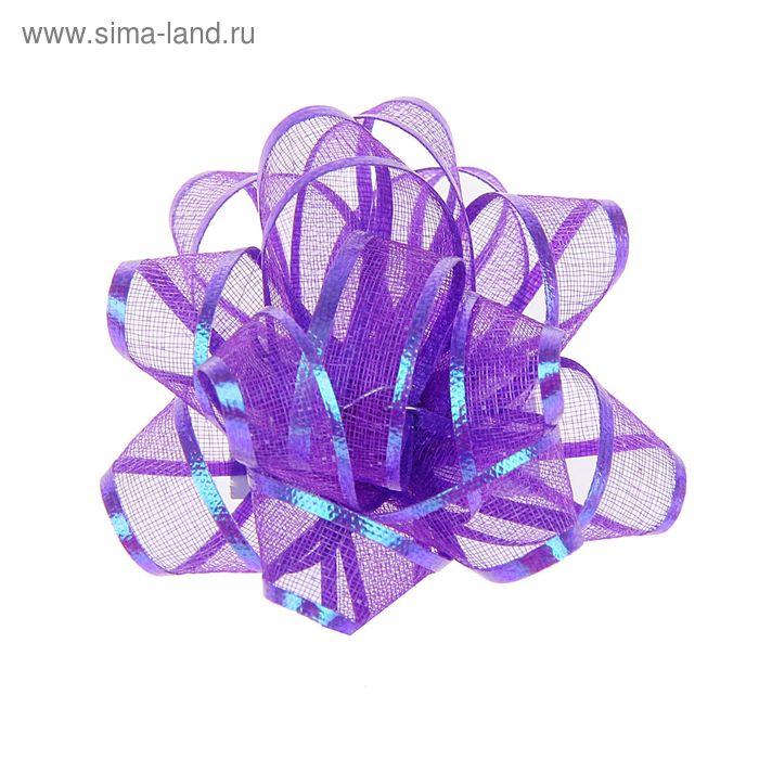 """Бант-звезда №5 """"Полоса"""", цвет фиолетовый"""