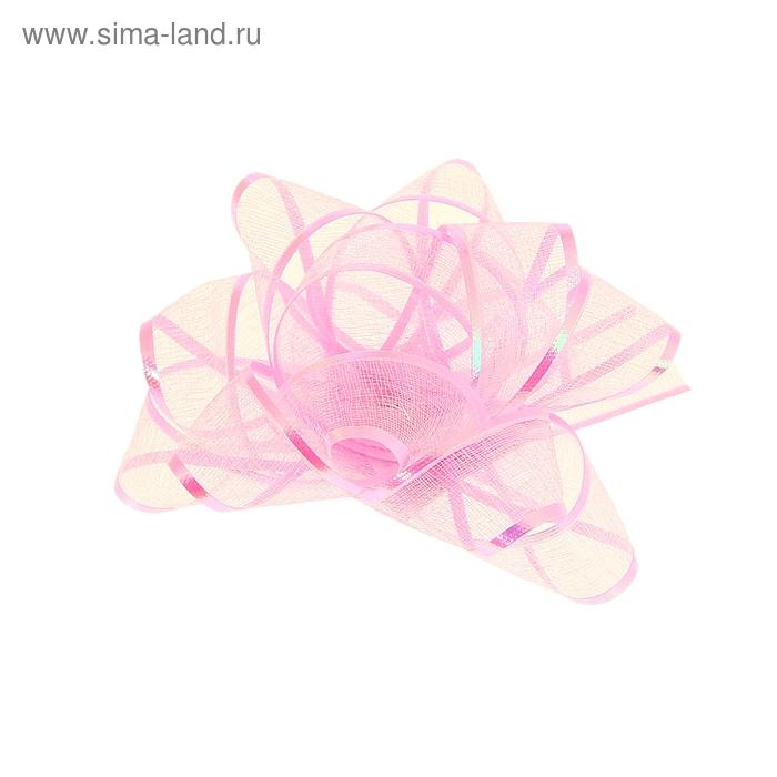 """Бант-звезда №7,5 """"Полоса"""", цвет розовый"""
