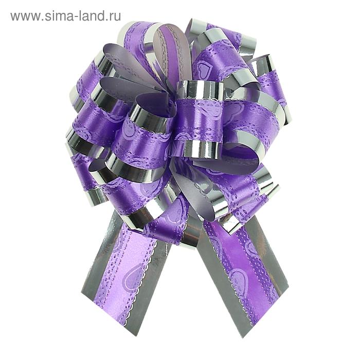 """Бант-шар №3,2 """"Воздушные сердца"""", цвет фиолетовом"""
