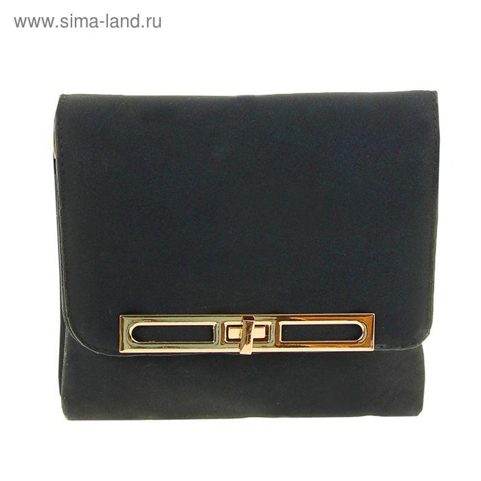 """Сумка женская """"Лаура"""", 3 отдела, 1 наружный карман, длинный ремень, с ручкой, чёрная"""