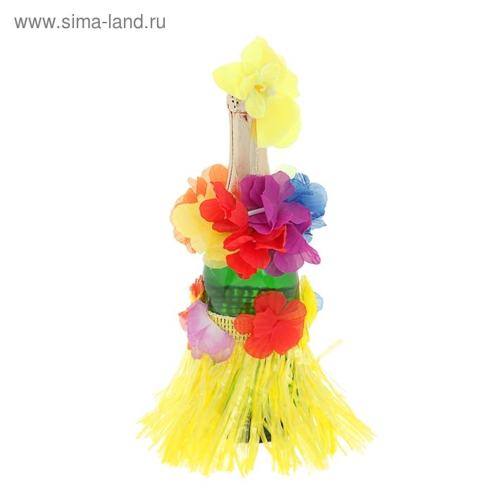 "Одежда на бутылку ""Гавайи"", цвет жёлтый"