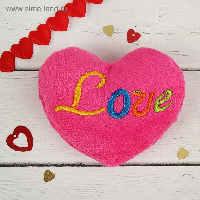 "Мягкая игрушка-магнит ""Сердце Love"""