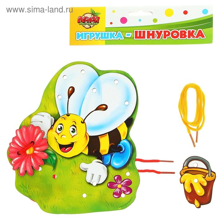 """Шнуровка фигурная """"Веселая пчелка"""""""