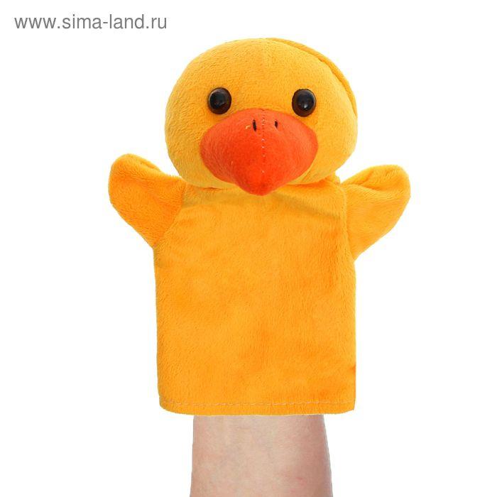 """Мягкая игрушка на руку """"Утёнок"""", цвет жёлтый"""