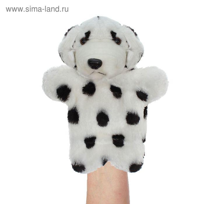 "Мягкая игрушка на руку ""Далматинец"", цвет чёрно-белый"