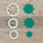 "Набор выемок кондитерских для марципана и теста ""Цветок"" 3 шт: 2х2х0,5 см, 2,5х2,5х0,5 см: 4х4х0,5 см"