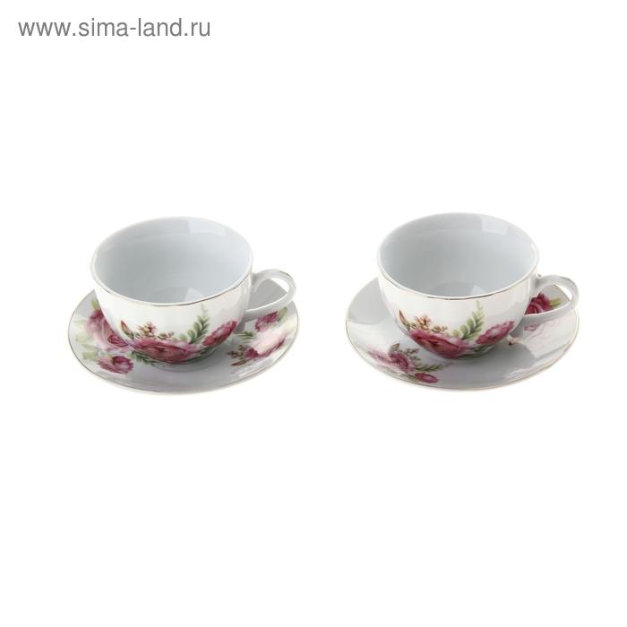 """Сервиз чайный """"Эстель"""", 4 предмета: 2 чашки 250 мл, 2 блюдца"""