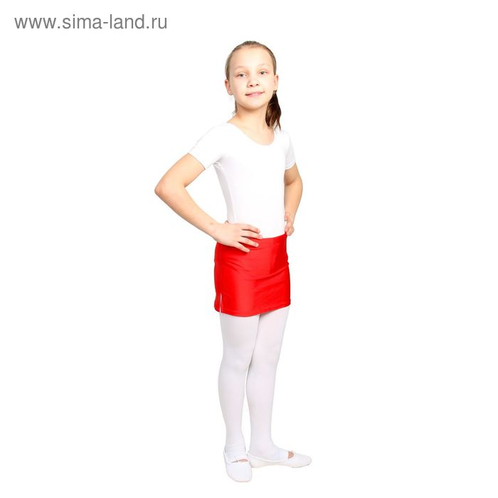 Юбка для тренировок с трусами, размер 28, цвет красный