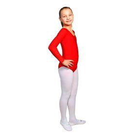 Купальник гимнастический, с длинным рукавом, размер 36, цвет красный Ош