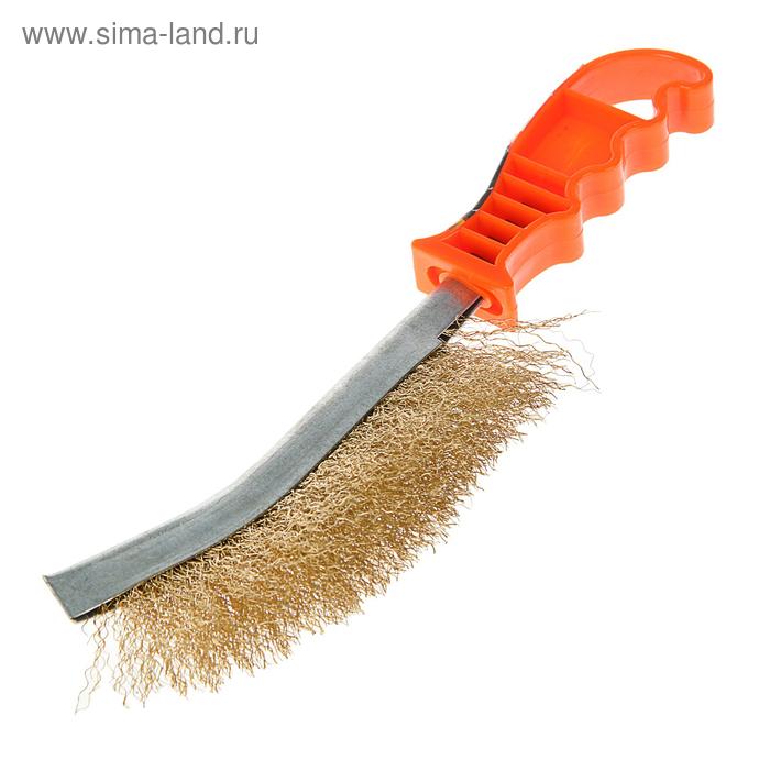 Щетка Sparta, металлическая с пластмассовой ручкой