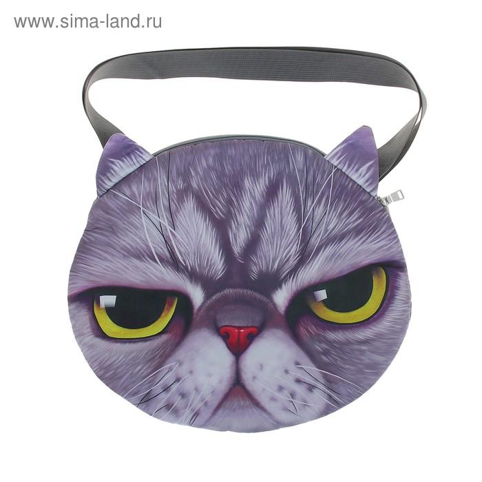 """Мягкая сумка """"Котик серый"""""""