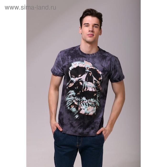 Футболка мужская Collorista 3D Skull, размер L (48), цвет серый