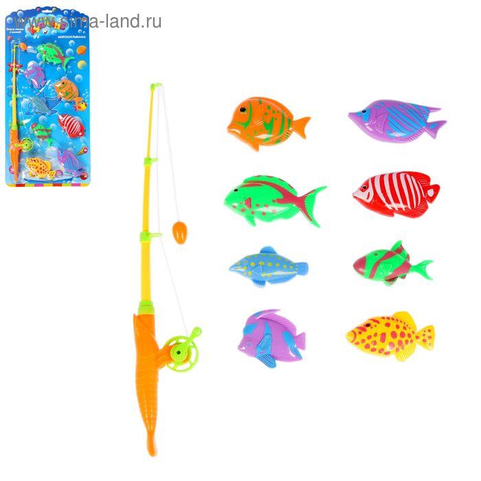 "Рыбалка ""Морская"", удочка, 8 рыбок"