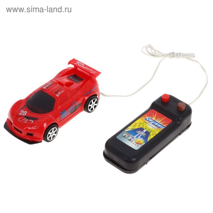 """Машина """"Гонка"""", на дистанционном управлении, работает от батареек, цвета МИКС"""