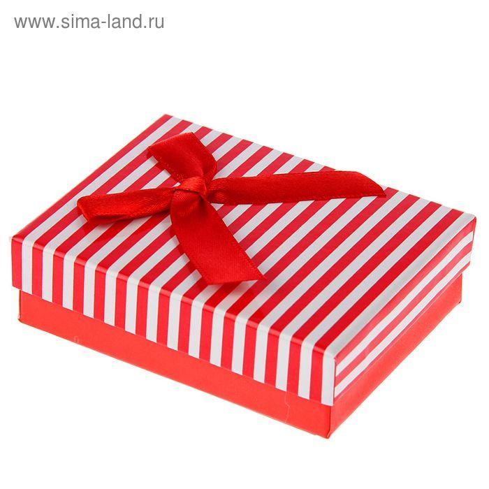 """Коробка подарочная """"Вертикаль"""", цвет красный"""