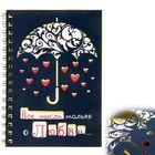 """Ежедневник на гребне """"Все мысли только о любви"""", твёрдая обложка, А5, 80 листов"""