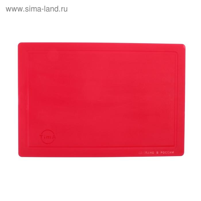 """Доска разделочная 36х25 см """"Палитра"""", цвет красный"""