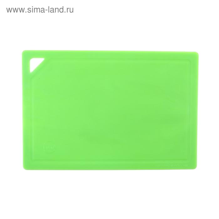 Доска разделочная 32х22 см гибкая, цвет зеленый