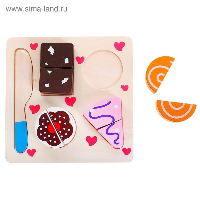 """Набор """"Учусь готовить десерт"""" на разделочной доске с ножом"""