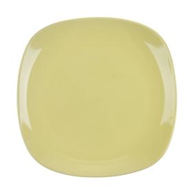 """Тарелка десертная 19,5 см """"Пастель"""", квадратная, цвет желтый"""
