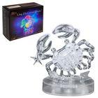 """Пазл 3D кристаллический, """"Знак зодиака Рак"""", 41 деталь, световые эффекты, работает от батареек"""