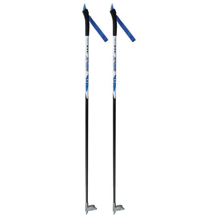 Палки лыжные стеклопластиковые TREK Classic (110 см), цвета микс