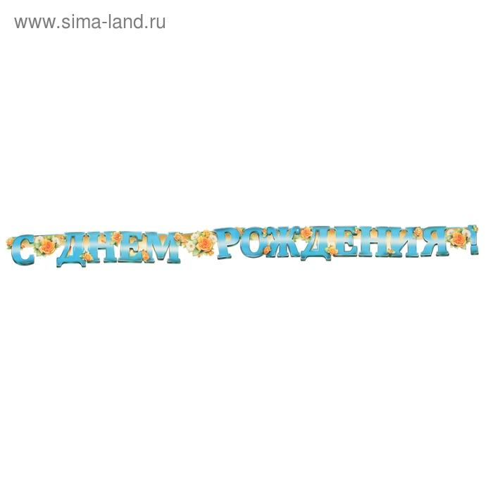 """Гирлянда """"С Днем рождения!"""" цветы 240 см"""
