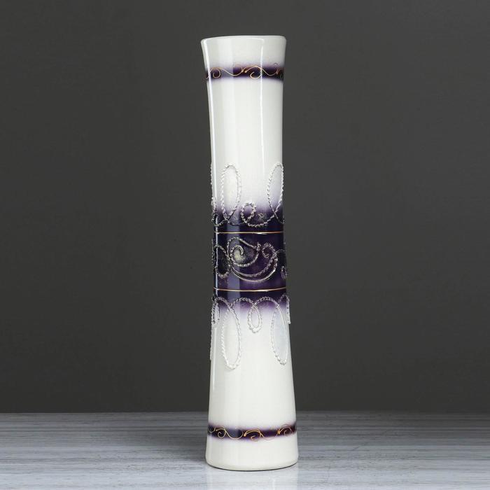 """Ваза напольная """"Виола"""" камень, глазурь, фиолетовая"""