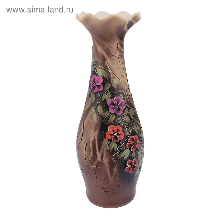 "Ваза напольная ""Элегия"" лепка, цветы"