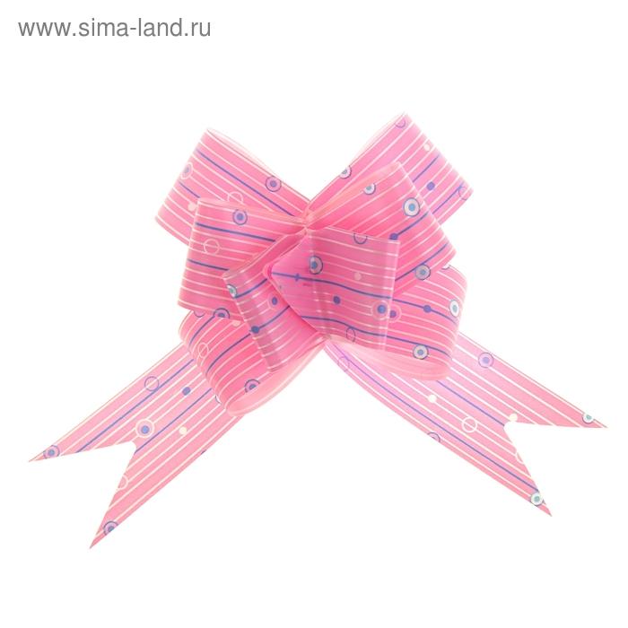 """Бант-бабочка №3 """"Капли дождя"""", цвет розовый"""
