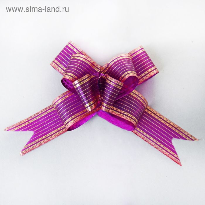 "Бант-бабочка №3 ""Золото"", цвет бордовый"
