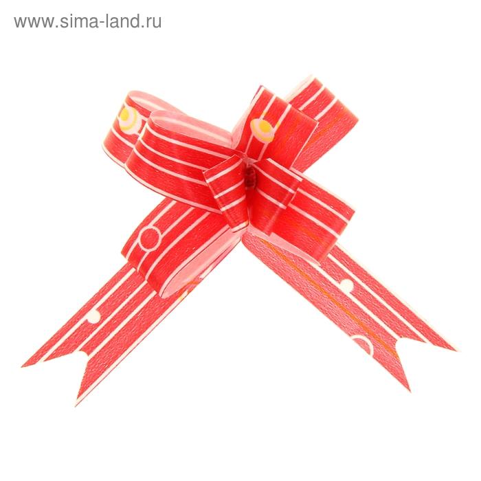 "Бант-бабочка №1,2 ""Капли дождя"", цвет красный"