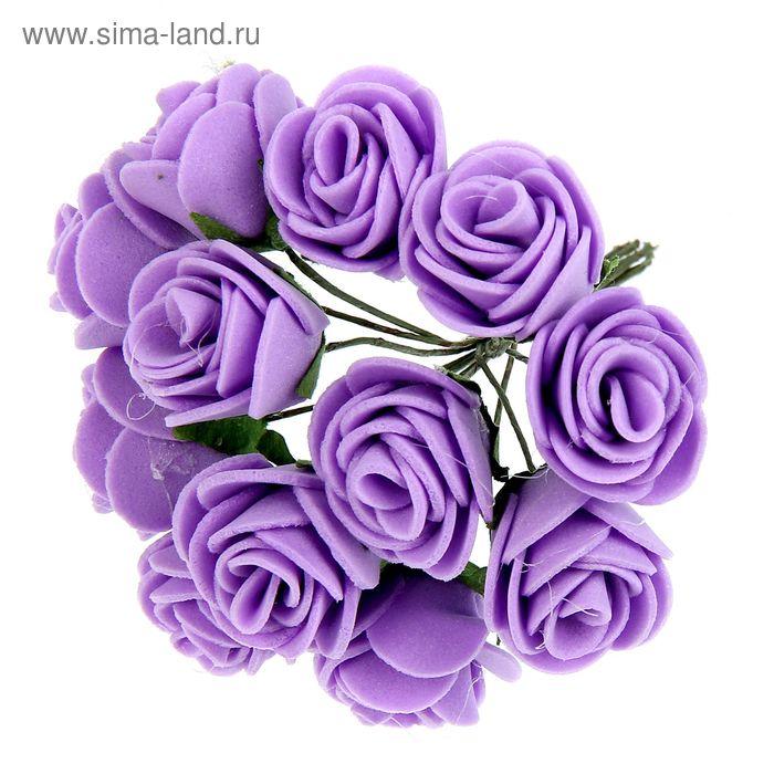 """Декор для творчества """"Чайная роза"""" (1набор=1букету) в букете 12 цветков МИКС"""