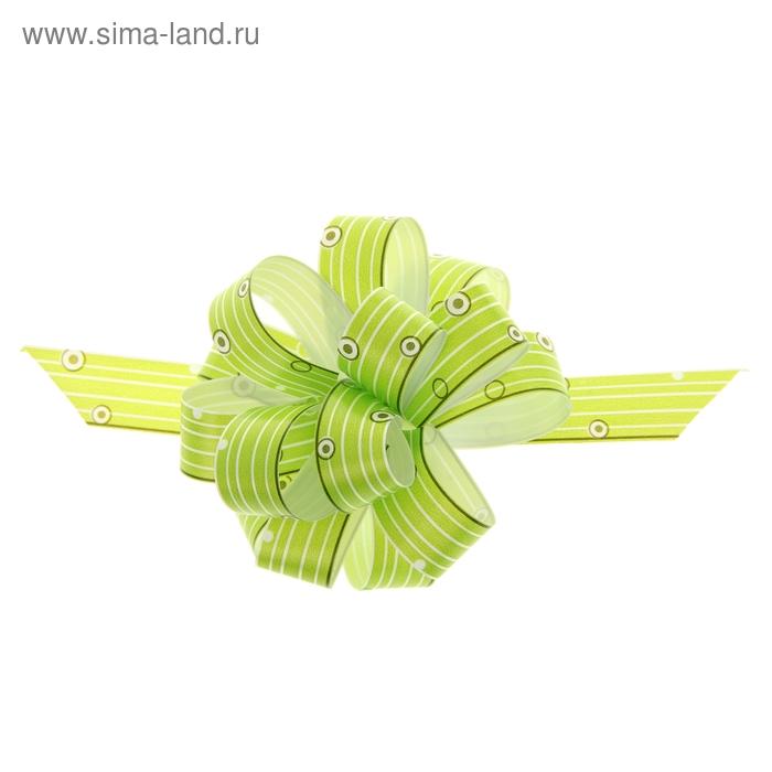 """Бант-шар № 1,8 """"Капли дождя"""", цвет зелёный"""