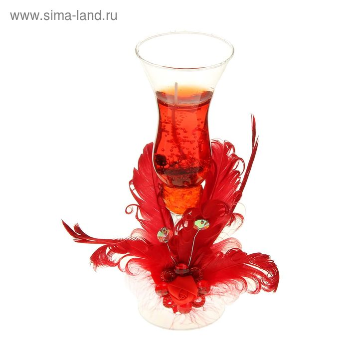 """Свеча гелевая """"Императрица"""", цвет красный"""