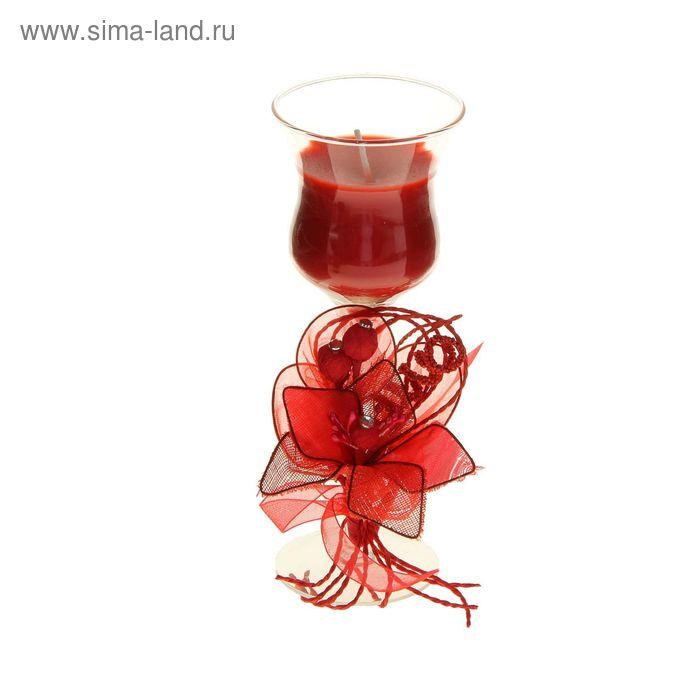"""Свеча восковая """"Цветок искренности"""", цвет красный"""
