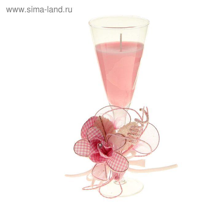 """Свеча восковая """"Цветок"""", цвет розовый"""