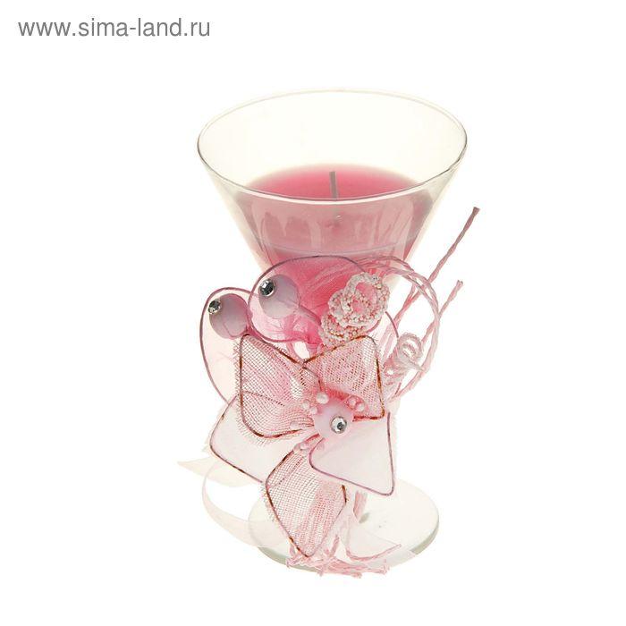 """Свеча восковая """"Букет"""", цвет розовый"""
