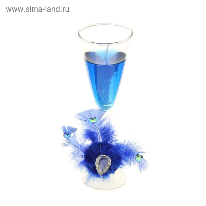 """Свеча гелевая """"Перо"""", цвет голубой"""