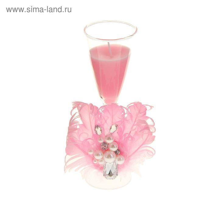 """Свеча восковая """"Императрица"""", цвет розовый"""