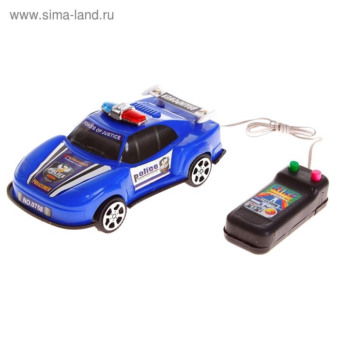 """Машина """"Полиция"""" на дистанционном управлении, работает от батареек, цвета МИКС"""