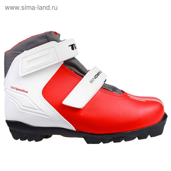 Ботинки лыжные TREK Snowrock NNN, размер 34, цвет: красный