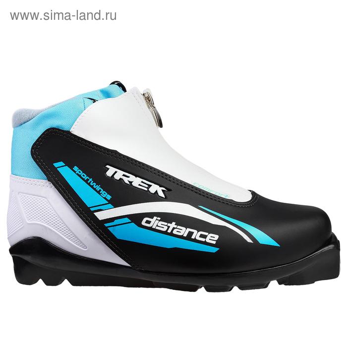 Ботинки лыжные TREK Distance Comfort SNS ИК, размер 45, цвет: черный