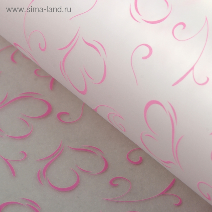 """Пленка матовая прозрачная """"Феерия чувств"""", цвет розовый"""